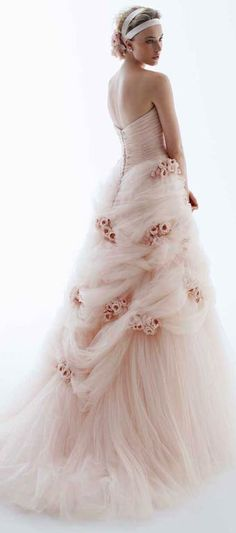 RS Couture pink bridal gown