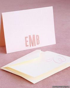 Send your next note on stylish stationery personalized with your monogram or initial.
