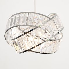 Rosdorf Park Stunning intertwined ring Hudson Metal/Acrylic Novelty Pendant Shade in a polished chrome finish with clear acrylic jewels. Perfect for updating any room of your home. Replaceable Bulb: Not Included Chrome, Glass Pendant Shades, Shades, Rectangle Lamp Shade, Ceiling Light Shades, Metal Drum Shade, Light Shades, Bowl Pendant, Ceiling Lights