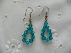 Handmade Earrings Tear Drop Loop Wedding Jewellry Bridal Party Prom Jewelry Gift Christmas Holiday Birthday