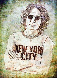 'New York' by Richard Rabassa on artflakes.com as poster or art print $16.63