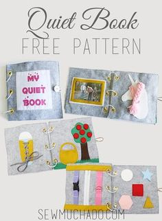 Use this Free Quiet Book Pattern to sew an adorable activity book that is sure to keep the little fingers in your life busy and happy! Spielbuch Stephanie Schmidmeier sschmidmeier Zukünftige Projekte Use this Free Quiet Book Pattern to sew an adora Free Baby Patterns, Sewing Patterns Free, Free Sewing, Free Pattern, Doll Patterns, Diy Quiet Books, Baby Quiet Book, Felt Quiet Books, Diy Busy Books