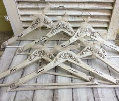 Personalized wedding shabby chic hangers by CottageVintageShabby