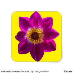 Pink Dahlia customizable stickers