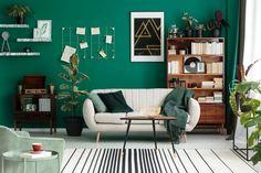 Tendenze home decor 2021: è tempo di osare! Living Room Decor 2018, Teal Living Rooms, Living Room Trends, Living Room Green, Living Room Interior, Living Room Designs, Color Combinations Home, Design Moderne, Interior Design