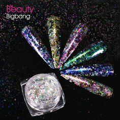 5a708e8c8f 1 Pot Neon Crystal Nail Glitter Pigment Super Shine Mirror Sequins ...