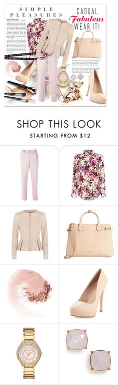 """""""simply pleasures"""" by ina-kis ❤ liked on Polyvore featuring N°21, BOSS Hugo Boss, Burberry, NARS Cosmetics, Charles by Charles David, Michael Kors and BP."""