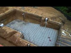 Dropping an Above Ground Pool in the Ground (the details) - YouTube