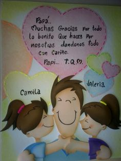 Tarjeta en fomi del día del padre Father Birthday, Happy Birthday, Father's Day Activities, Dad Day, Foam Crafts, Happy Fathers Day, Art For Kids, I Am Awesome, Clip Art