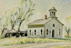 Church North Of East Otto Artwork by Charles Burchfield Oil ...