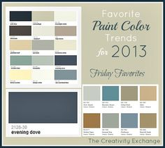 Favorite Paint Color Trends for 2013 {Friday Favorites} The Creativity Exchange