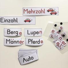 Like 190 times, 10 Comments – Froileins Kunterbunt 🎨 ( … - Education Deaf Children, Singular And Plural, First Grade, Art Education, Back To School, Preschool, German, Language, Classroom
