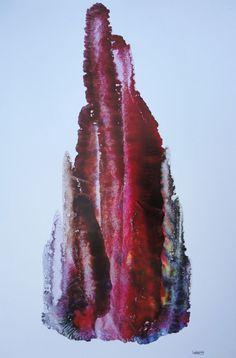 FRACTAL #14 Oil Dispersion/ Paper 85 x 58 cm