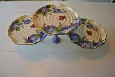 Check out this item in my Etsy shop https://www.etsy.com/listing/386758226/hydrangea-plate-stand-set