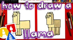 How To Draw A Minecraft Llama - YouTube