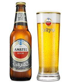 "Amstel Bier since 1870, I don't think it's ""dam good""."