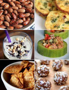 28 healthy snacks — creamy, salty, sweet, savory, crunchy.