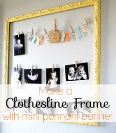 Clothesline Frame with Mini Pennant