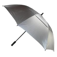 This large golf umbrella is the perfect solution to keeping dry when on the course. The vented canopy helps to keep the wind flowing through it and prevents the umbrella from turning inside out or ripping. The body of the umbrella is made with durable fiberglass, providing a strong base.
