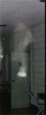Submitted by Anna & Mark Wolfe : Close up of the apparition coming down from the ceiling by the door on the back right. 2010