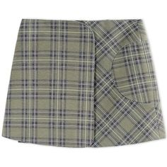 Victoria Beckham Denim Green Plaid Mini Skirt (19.175 RUB) ❤ liked on Polyvore featuring skirts, mini skirts, bottoms, faldas, green, green plaid skirt, plaid mini skirt, green plaid mini skirt, green skirt and green mini skirt
