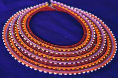A beaded Maasai #necklace.