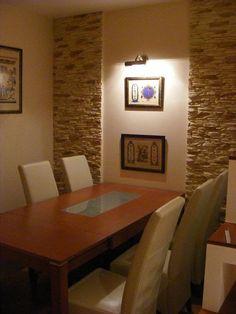 panellakás felújítása Dining Room Wall Decor, Living Room Decor Cozy, Living Room Interior, Dining Area Design, Stone Interior, Classic Home Decor, Interior Decorating, Interior Design, Home Decor Furniture