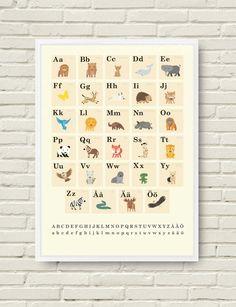 Fin ABC-affisch från Wallflower - Inredning - HEM&HUSHÅLL - Medvetna.se