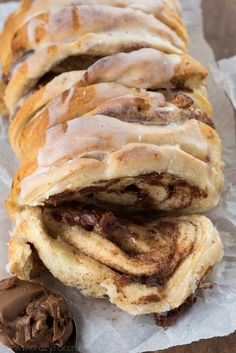Chocolate Cinnamon Roll Pull Apart Bread | Crazy for Crust