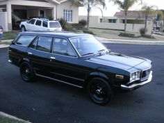 1977 Mazda RX3 wagon - the only thing pretty about it was the color - turquoise with white leather interior.  Rotary engine and all - LOL. Our car goes POW-DOW!