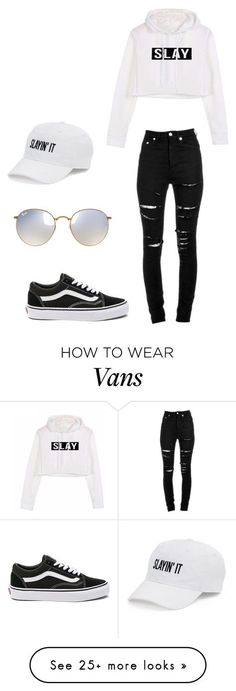"""Untitled #259"" by alexisxxr on Polyvore featuring Yves Saint Laurent, Vans, SO and Ray-Ban"