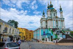 St. Andrew Church, Kyiv, Ukraine, photo 1 St. Andrew's Church, located on St. Andrew's Hill in Kyiv, is an Orthodox church named after Andrew the Apostle and built in the Baroque style by the architect Bartolomeo Rastrelli in 1754.