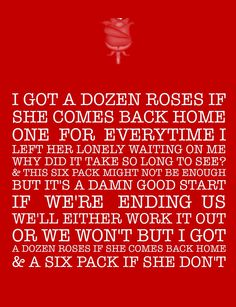 Cole swindell- a dozen roses & a six pack #lyrics