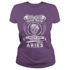 I am an AriesGet this T-shirt for yourself or give as a gift. Exclusive Design. Not sold in stores. Get your shirt before we sell out. TIP TO SAVE MONEY: Share with friends. Buy 2 or more and SAVE on shipping cost.Aries