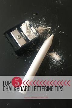 Best Chalkboard Lettering Tips   TricksLife PreKARIous