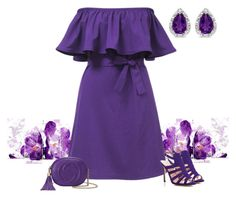 """""""Purple Ruffles"""" by gemique ❤ liked on Polyvore featuring SJP, Gucci and BillyTheTree"""