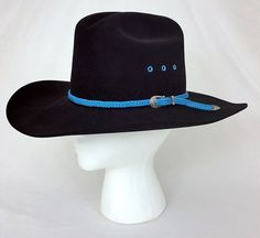 d6868e1f2c1dc Pedigreed Thoroughbred Hand Finish 5X Beaver Black Felt Men s Cowboy Hat