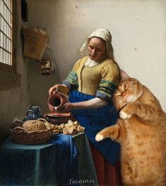 Artist Inserts Her Fat Cat Into Famous Classical Paintings   Russian artist Svetlana Petrova photoshops her awesome cat named Zarathustra into iconic and famous works of art…