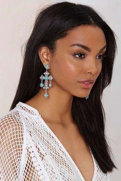 Cross My Mind Embossed Earrings - Accessories