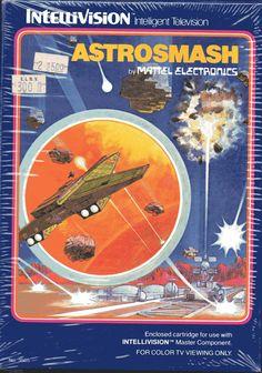 Hand-painted Mattel Electronics sci-fi box art, 1978-82
