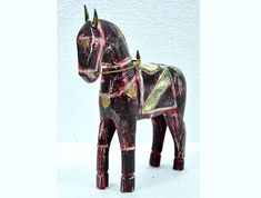 """This Wooden Red Hand Painted Brass Decorated Horse Figurine Will Add A Ethnic & Rustic Touch To Your Home Interior   Get It From Our Online Store Visit: Singhalexportsjodhpur.Com and search for """"20482"""" in the search box  Use code EARLYBRD5 to get amazing discounts.  LALJI HANDICRAFTS - WORLDWIDE SHIPPING - EXCLUSIVE HANDICRAFTS  INDIAN DECOR INDUSTRIAL DECOR VINTAGE DECOR POP ART MOVIE POSTERS VINTAGE MEMORABILIA FRENCH REPLICA  #decoraccessory #decoraccessories #decoraticle #decorarticles…"""