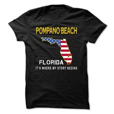 POMPANO BEACH It's Where My Story Begins T-Shirts, Hoodies. SHOPPING NOW ==►…