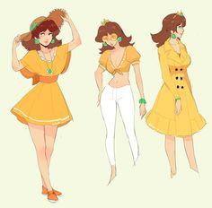 """""""Daisy in diff outfits🌼"""" Luigi And Daisy, Mario And Luigi, Mario Bros, Mario Kart, Nintendo Game, Nintendo Characters, Video Game Characters, Mario Princess Daisy, Nintendo Princess"""