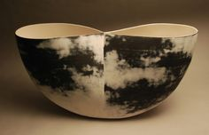 'Event Horizon' (2011) by Canadian ceramic artist Steven Heinemann (b.1957). via Sheridan Ceramics