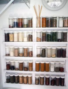 Spice Rack Ideas – the Story Kitchen organization doesn't need to happen overnight, in reality, it's something that you may want to tweak from time to time as your needs change. It is key to any successful food and beverage… Continue Reading → Spice Rack Plans, Build A Spice Rack, Diy Spice Rack, Spice Storage, Spice Shelf, Spice Rack Design, Minimal Apartment, Mason Jars, Bead Storage