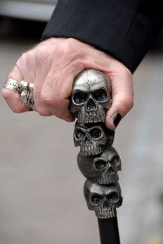 skull cane