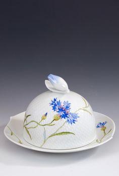 Cheese cover, Cornflower, blue, Ø 19 cm