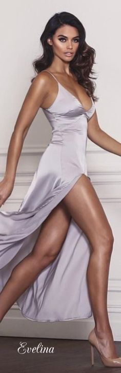 The lovely grey slip dress begs the question  is the slip underwear,  outerwear, or both  39d68a6633
