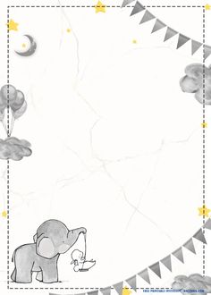 There are endless ways to lit up the artistry level in your party invitations! In fact, you can customize every detail of your invitation layout. The essential part of invitations is to deliver your message toward your guests that you are going to ge Free Baby Shower Invitations, Free Birthday Invitation Templates, Baby Shower Templates, Templates Printable Free, Free Printables, Disney Invitations, Elephant Template, Baby Boy Cards, Elephant Baby Showers