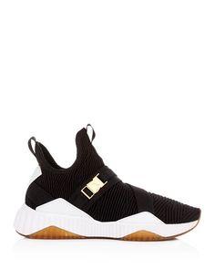 07bb107c759 PUMA - Women s Defy Varsity Knit Mid Top Sneakers